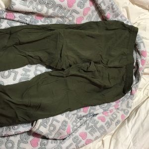 Olive green H & M loose pants